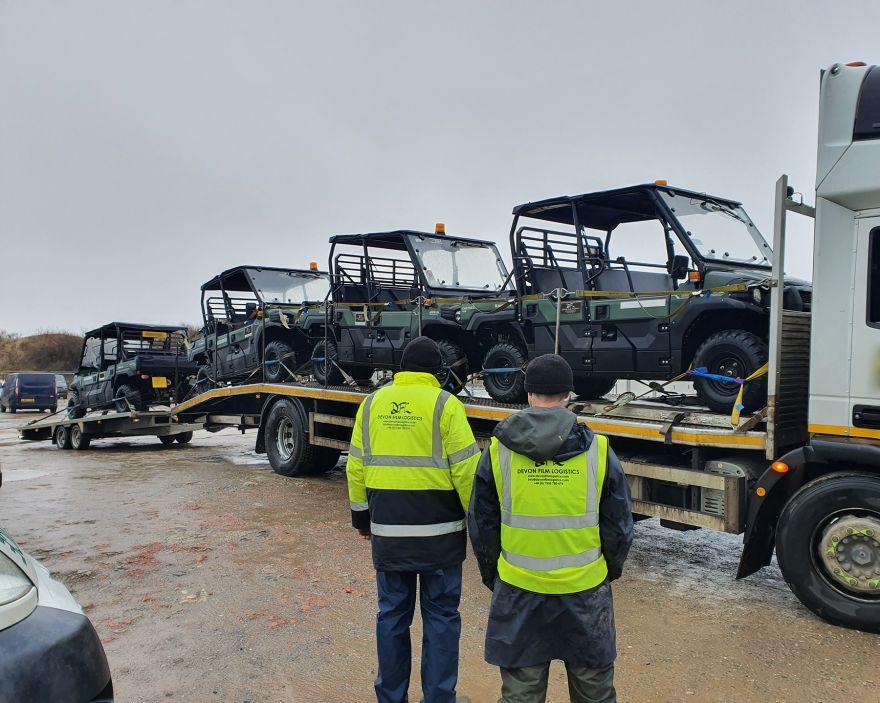 DFL Crew Unloading Gators On Location