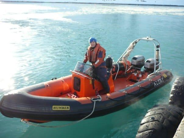 Boatman on Rib In The Antarctic