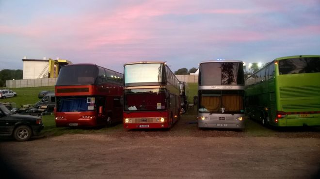 Sleeper Coaches at Festival Location