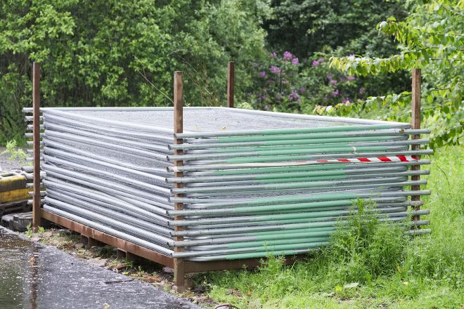 Heras Temporary Fencing ready to be installed
