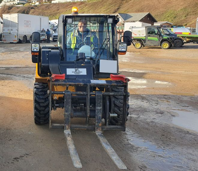 DFL Forklift and Driver On Location at Saunton Sands