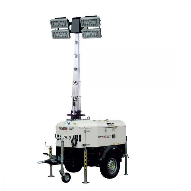 Towable Lighting Tower with Generator