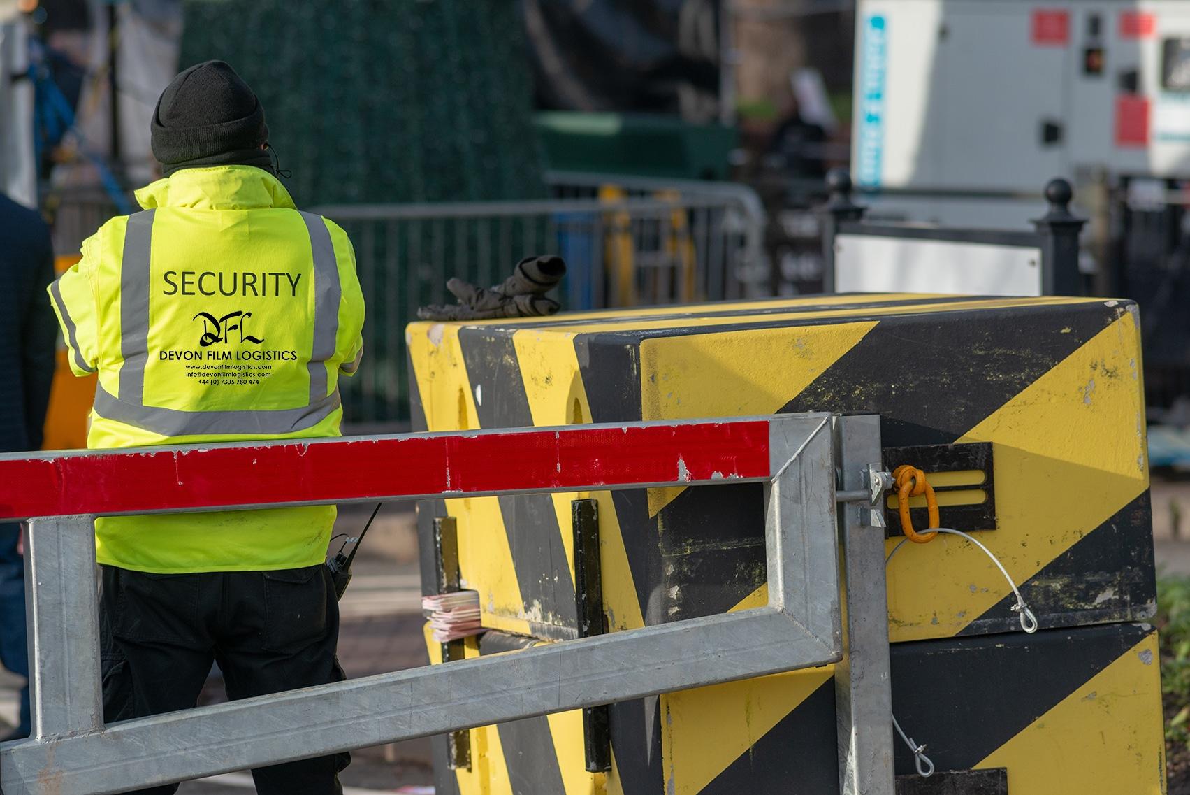 Devon Film Logistics Security Guard Protecting Set