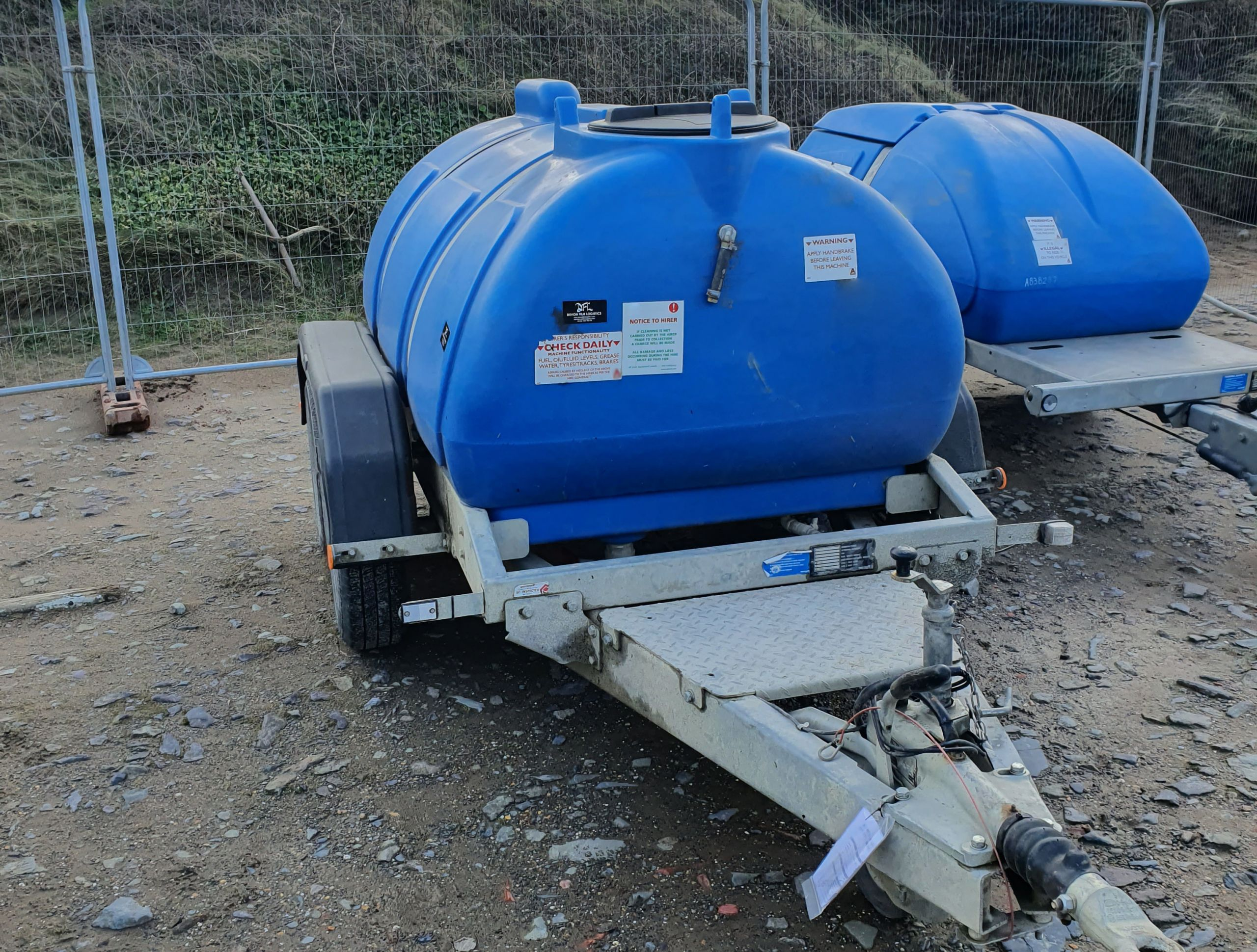 Towable Water Bowser On Location